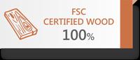 100% FSC Certified Wood