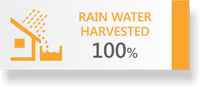 100% Rain Water Harvested