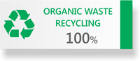 100% Organic Waste Recycled